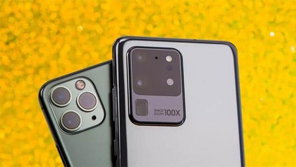 S20 Ultra nổi bật với camera chính lên tới 108 MP ở mặt sau cùng camera selfie 64 MP