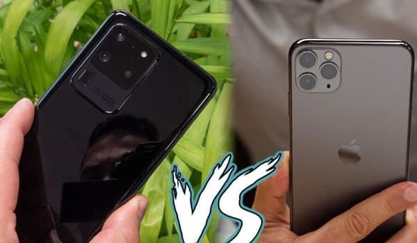 So sánh Galaxy S20 Ultra và iPhone 11 Pro Max về thiết kế
