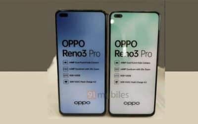 Hình ảnh thực tế mắt trước OPPO Reno 3 Pro sắp ra mắt