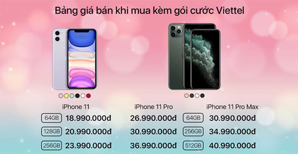 Giảm giá trực tiếp từ 2 đến 3 triệu đồng khi mua các phiên bản iPhone 11