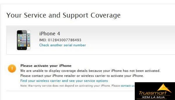 iPhone chưa được Active