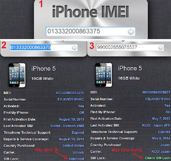 Phân biệt iPhone Lock và iPhone quốc tế (1)