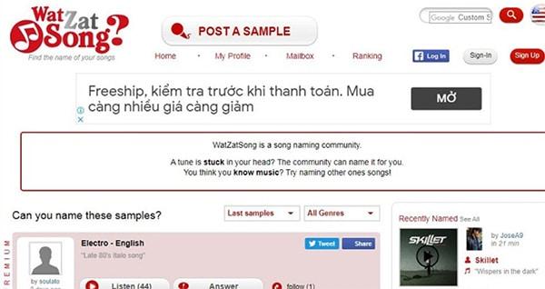 Sử dụng những công cụ tìm kiếm bài hát theo lời