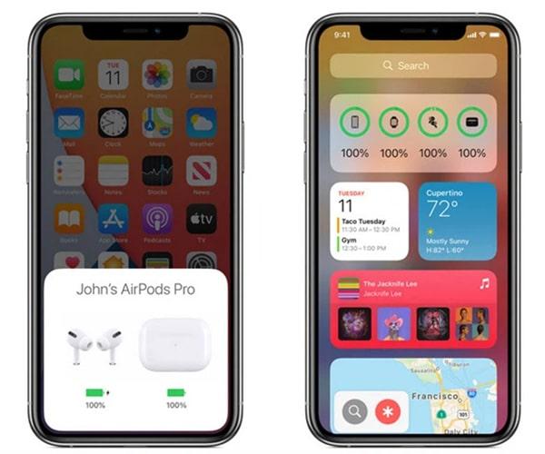 Cách kiểm tra pin Airpods trên iPhone (1)